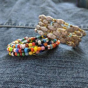 Bojo Seed Bead and Paper Bead Memory Bracelets